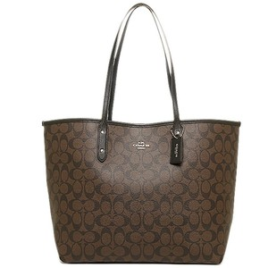 Coach Satchel Shoulder Tote in BROWN BLACK
