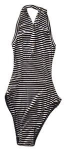 Urban Outfitters Black, tan and white stripes. Halter Top