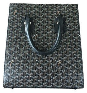 Goyard Silver Hardware Tote in Black