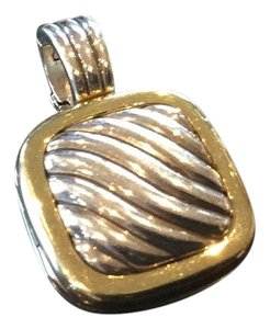 David Yurman David Yurman Gold And Silver Locket Enhancer
