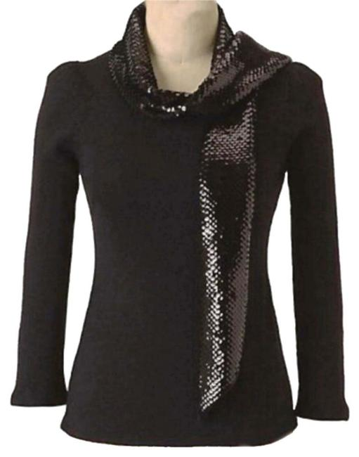 Preload https://img-static.tradesy.com/item/20222230/anthropologie-black-opening-show-sequin-scarf-sweaterpullover-size-4-s-0-6-650-650.jpg