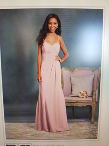 Alfred Angelo Blush Pink Blush Pink Strapless Chiffon Form Fitted Gown Dress