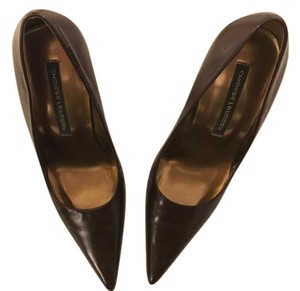 Chinese Laundry Pointed Toe Leather Heels Brown Pumps
