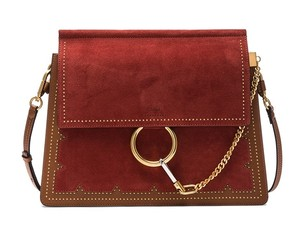 Chloé Faye Medium Faye Sienna Red Cross Body Bag