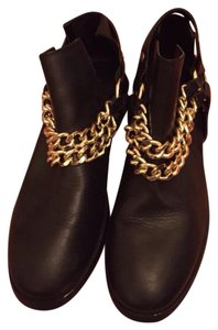 Zara Black and gold Boots