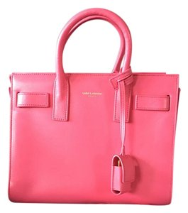 Saint Laurent Tote in Lipstick Fuscia