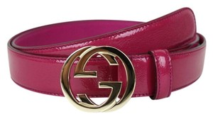 Gucci Gucci Belt Winterlocking G Buckle Hot Pink, 95/38 114874 5523