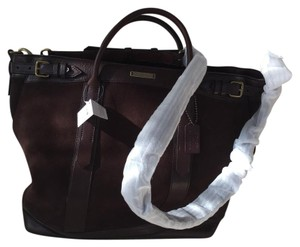 XL Limited Edition Coach + Billy Reid Tote Carryall Luggage Briefcase Tote in Chocolate Brown Mahagony