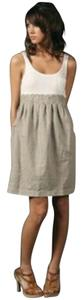James Perse short dress White & Toast Combo Supima Color-blocking Sleeveless on Tradesy