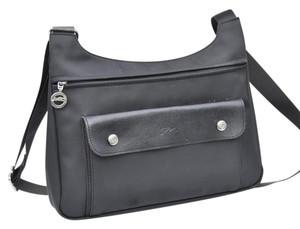 Longchamp Black Messenger Bag