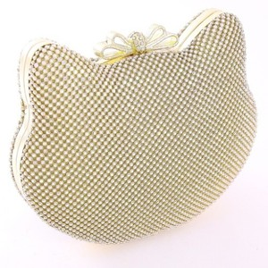 Gold Crystal Kitty Evening Bag Bridal Handbag