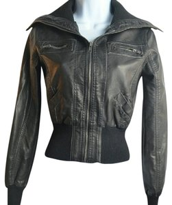 Wet Seal Juniors Bomber Leather Jacket