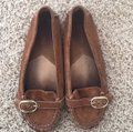 MICHAEL Michael Kors Suede Leather Moccasin Loafers Brown Flats Image 2