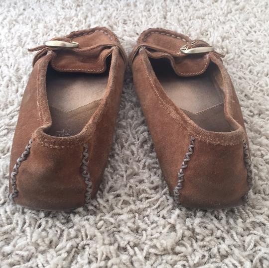 MICHAEL Michael Kors Suede Leather Moccasin Loafers Brown Flats Image 3