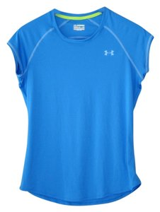 Under Armour Top, Tee, Under Armour, Green, Semi-fitted, Heat Gear