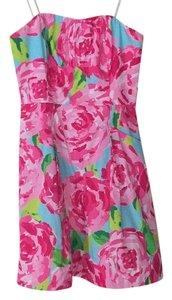 Lilly Pulitzer short dress Mostly pink, some aqua and green on Tradesy