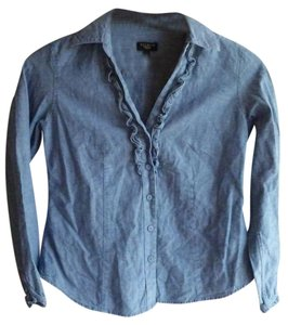 Talbots Button Down Shirt Denim