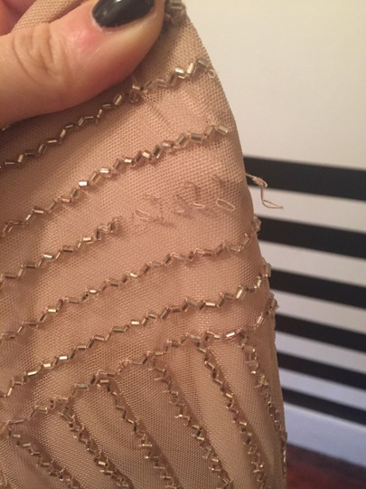 BHLDN Rose Gold Tulle and Beading Sophia By Adrianna Papell Formal Bridesmaid/Mob Dress Size 4 (S) Image 3