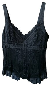 Marithé et François Girbaud Silk Lace Night Out Date Night European Top Black