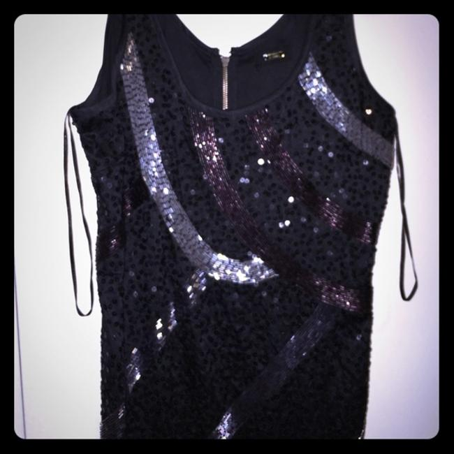 Guess Sequin Beaded Sleeveless Dress Image 7