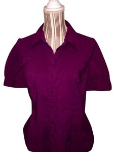 Ann Taylor LOFT Button Down Shirt Grape