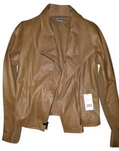 Vince tan leather Leather Jacket