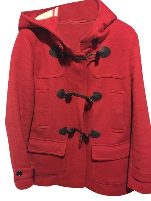 Item - Red Wool Toggle Coat Size 10 (M)