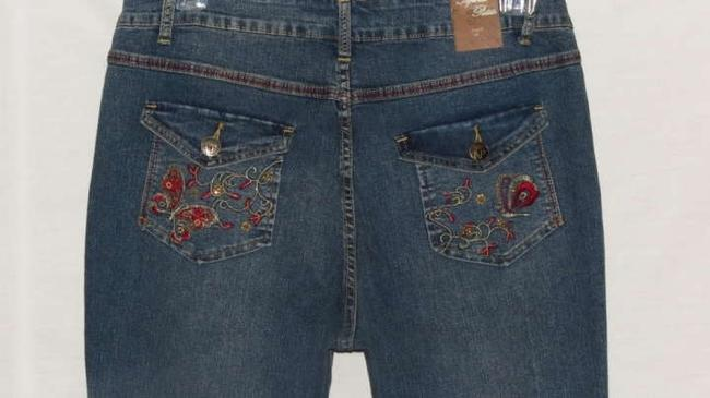 Apollo Petite Size 14 Boot Cut Jeans-Medium Wash