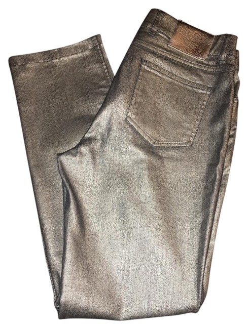 Item - Metallic Grey Or Silver Dress 38/ Straight Leg Jeans Size OS (one size)
