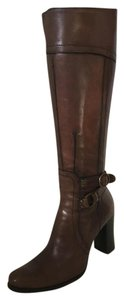 CoSTUME NATIONAL Vintage Leather Knee High brown Boots