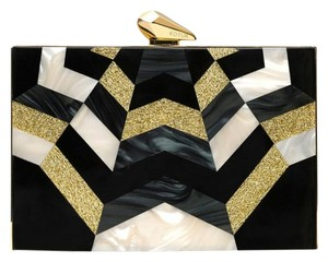 Kotur black and gold Clutch