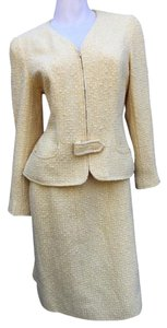 Chanel CHANEL Tweed Buckle Skirt Suit