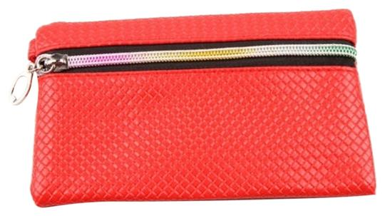 Other BOGO PU Leather Wallet Wristlet With Rainbow Zipper Free Shipping