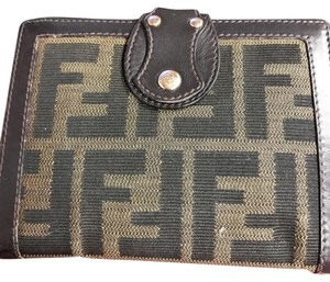 Fendi Fendi Monogram Canvas & Leather Wallet