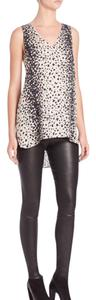 Vince Leopard Hi Lo Top Black and Creme