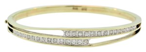 Other Channel Set Diamond Bangle- 14k Yellow Gold