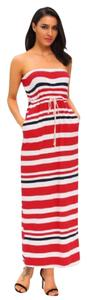 RED/WHITE Maxi Dress by