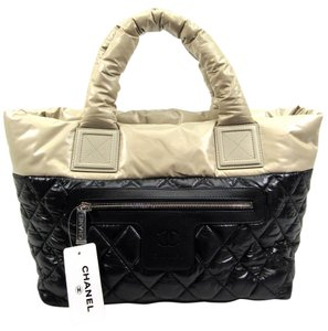 Chanel Coco Cocoon Tote in Black, Beige