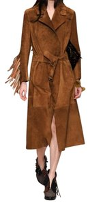 Burberry Prorsum Suede Fringed Trench Coat