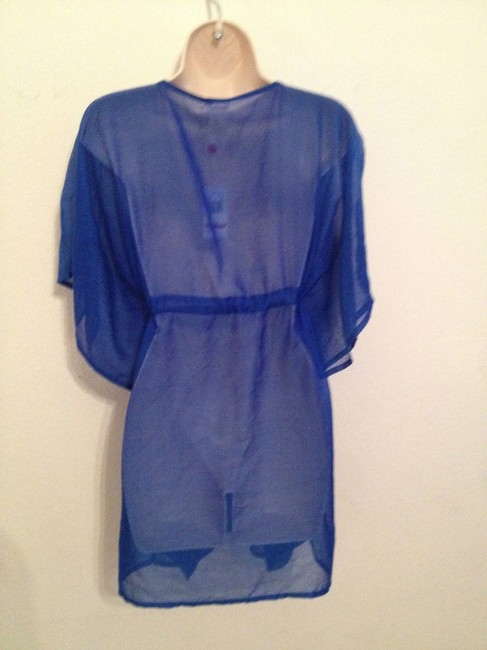 Echo New Echo Design sheer butterfly Beach Cover Up Blue One Size Fits All