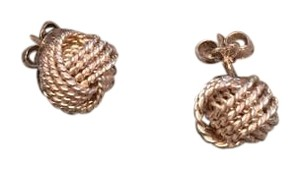 Tiffany & Co. Tiffany & Co. Sterling Silver Somerset Mesh Twist Knot Rope Earrings