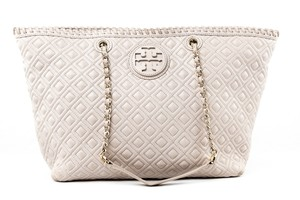 Tory Burch Leather Tote in Pastel pink