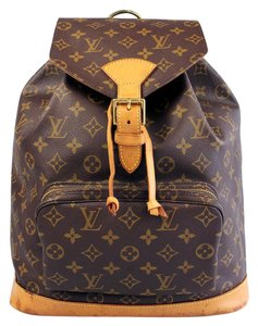 Louis Vuitton Canvas Leather Backpack