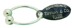 Tiffany & Co. Return To Tiffany Oval Tag Key Ring, Sterling Silver, Large