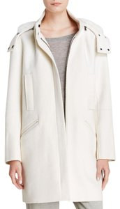 Vince Fur Cream White Coat