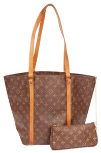 Louis Vuitton Monogram Canvas Sac Neverfull Tote in Brown