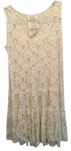 Free People short dress Cream / Off white Boho Lace Vintage on Tradesy