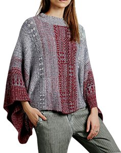 Free People Sweater Top Oversized Layering Warm Pullover Fp Fuzzy High Neck Cape