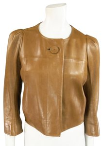 Chloé Tan Leather Jacket