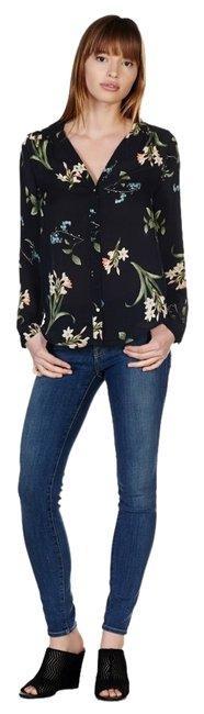 Joie Floral Wear To Work Top black